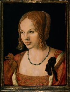 Портрета молодой венецианской дамы. Дюрер.