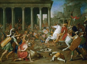 Разрушение Иерусалимского храма Титом. Пуссен.