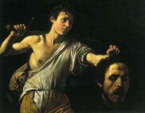 Давид с головой Голиафа. 1607.