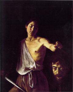 Давид с головой Голиафа. Караваджо.