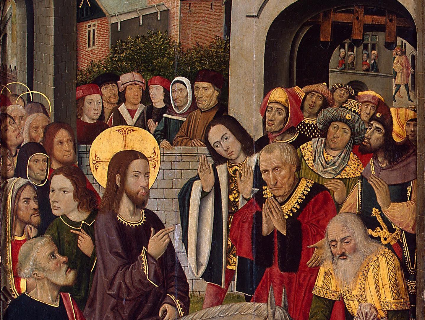 Въезд Христа в Иерусалим. Фрагмент