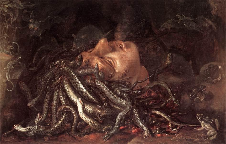 Голова Горгоны. Ранее считалась работой да Винчи.