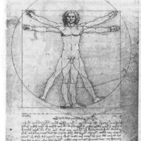 Витрувианский человек. Леонардо да Винчи.