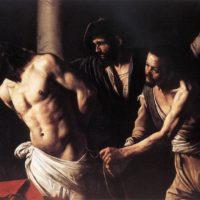 Христос у колонны. Караваджо.