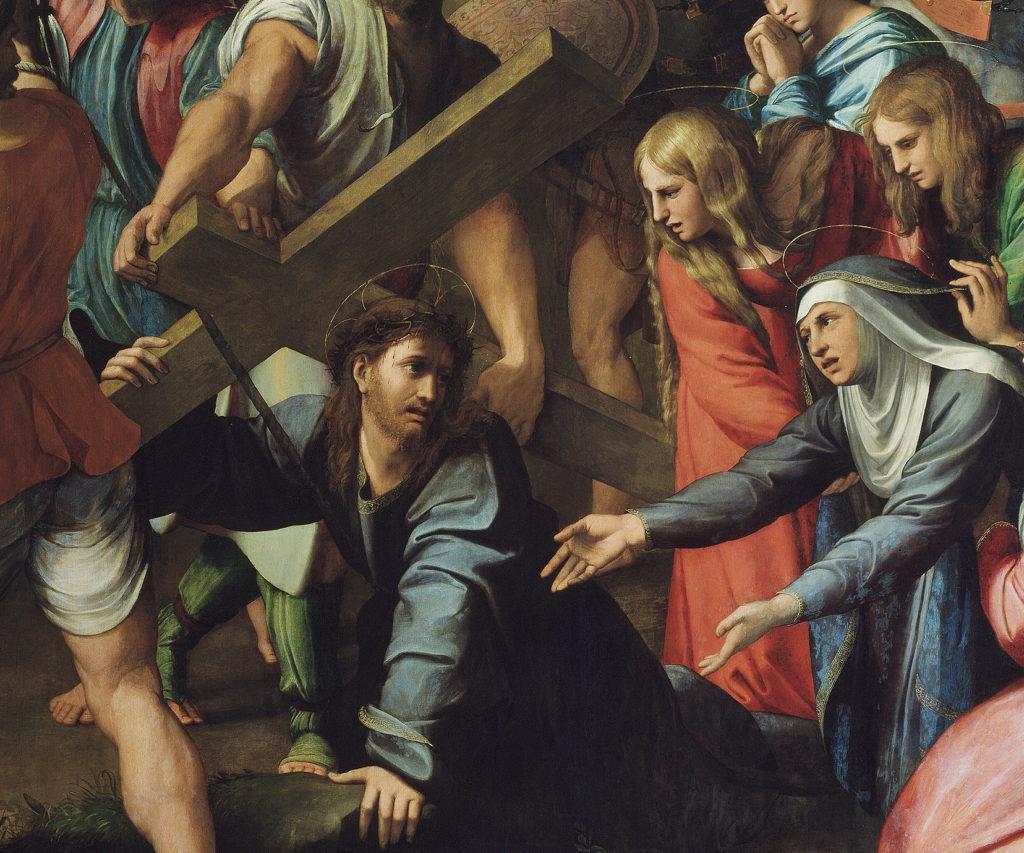Падения Христа. Рафаэль. Фрагмент.