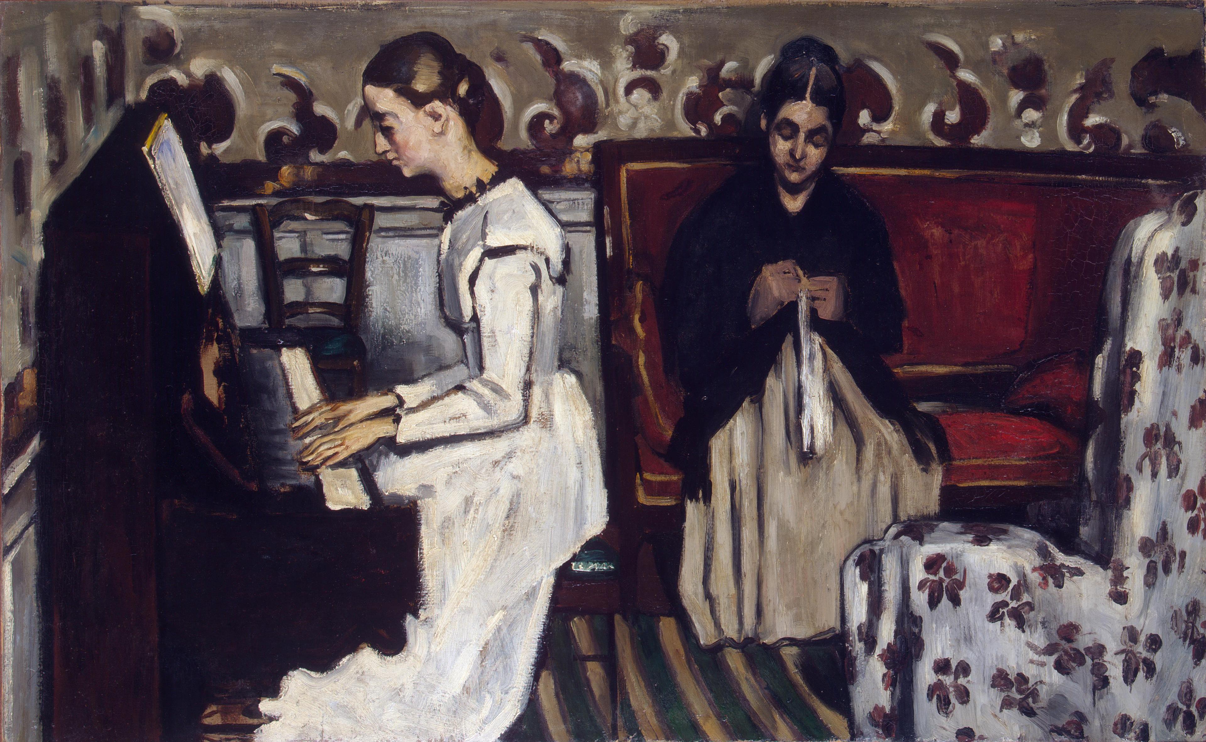 Девушка у пианино. Сезанн