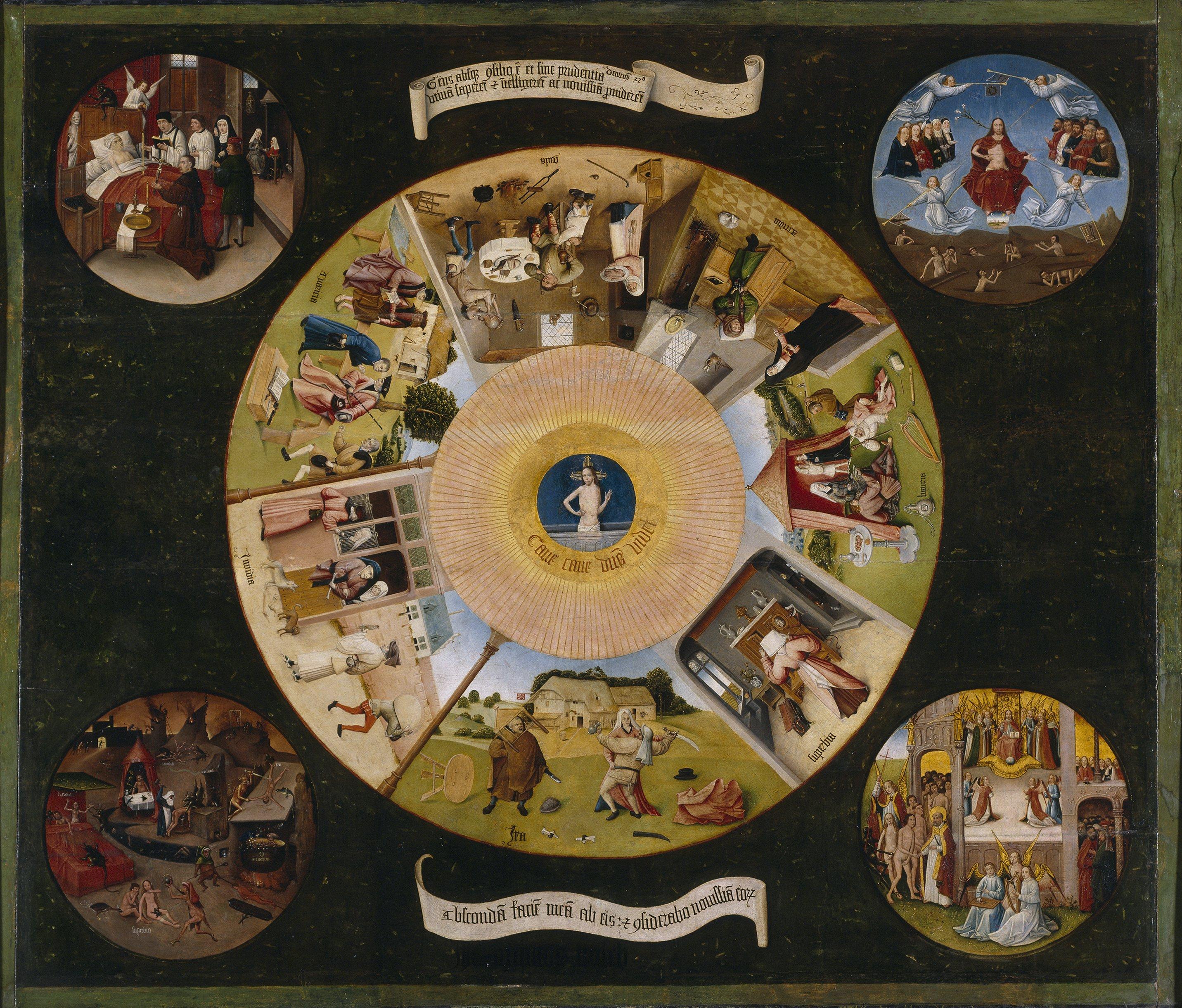 Семь смертных грехов. Босх.