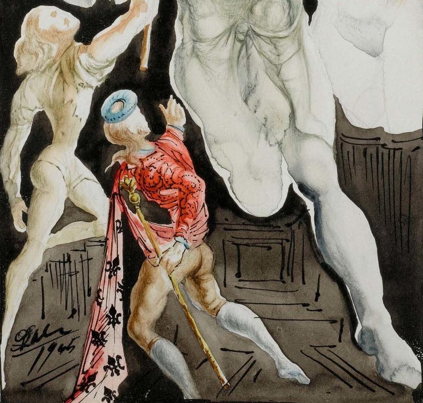 Бенвенуто Челлини и Юпитер. Фрагмент.