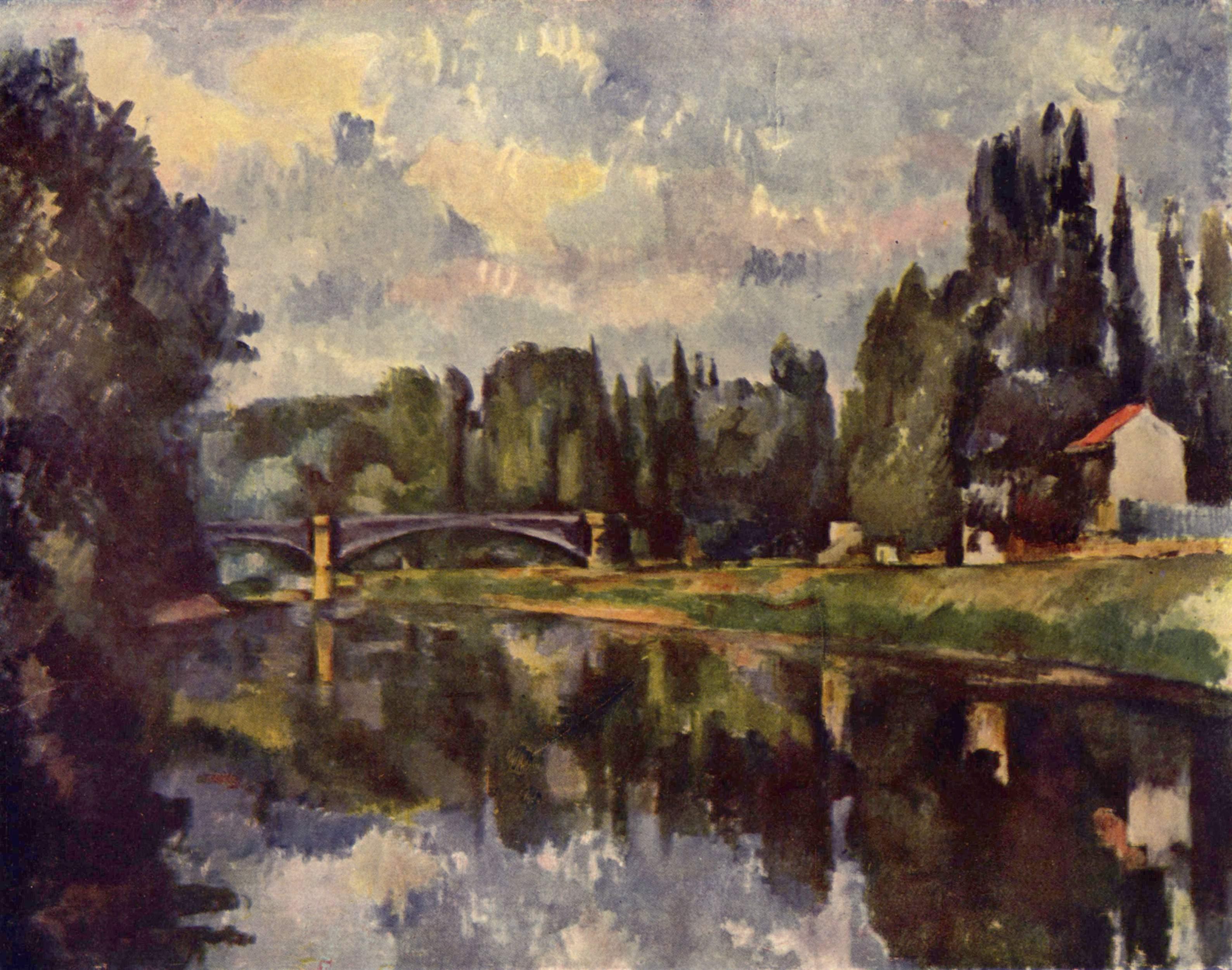 Мост через Марну в Кретее. Сезанн