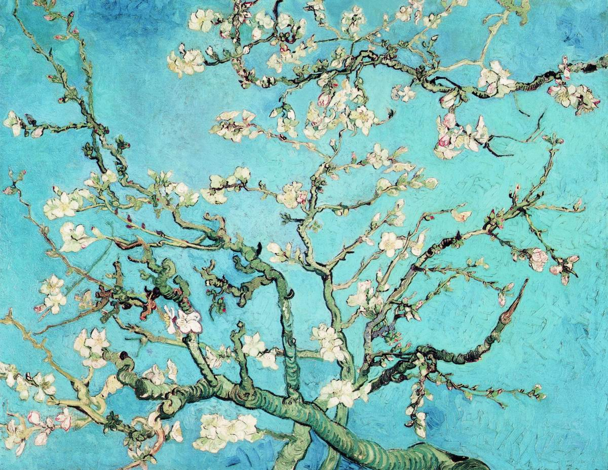 Цветущие ветки миндаля. Ван Гог