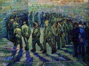 Прогулка заключенных. Ван Гог