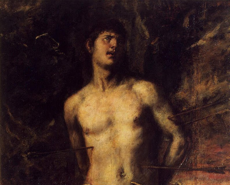 Святой Себастьян, Тициан. Фрагмент.