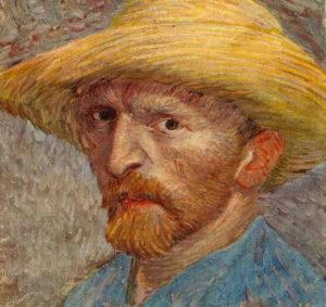 Ван Гог. Автопортрет. Фрагмент.