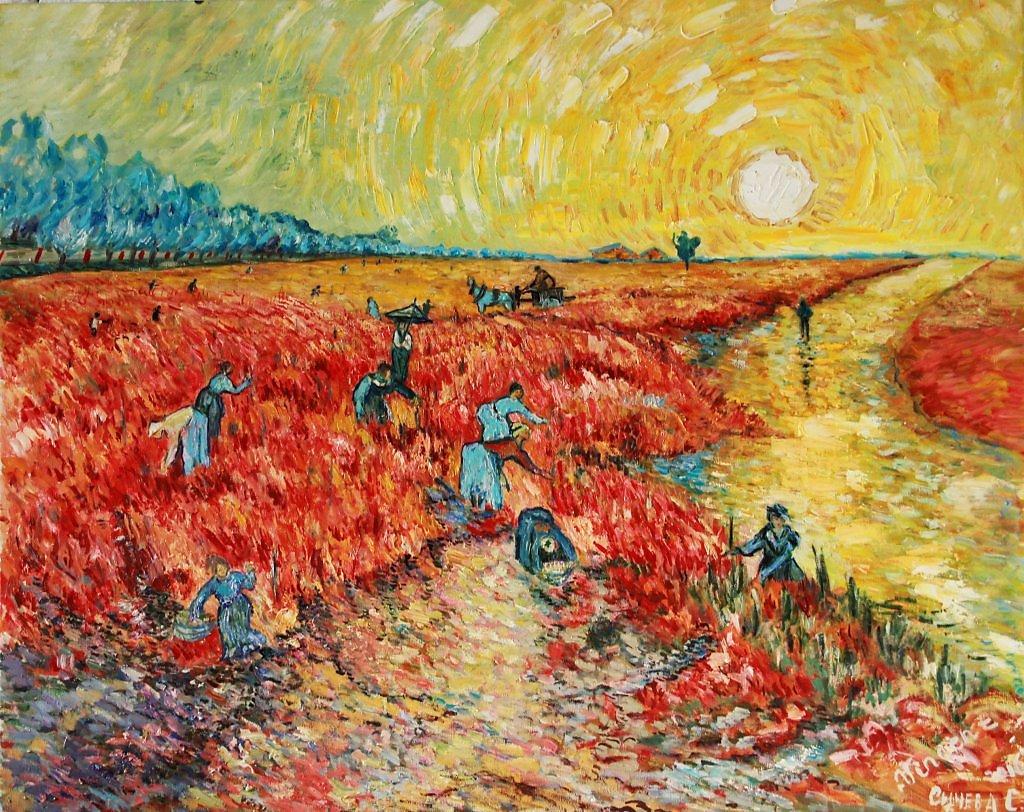 Красные виноградники в Арле. Винсент Ван Гог