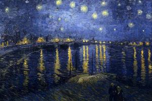 Звездная ночь над Роной. Ван Гог