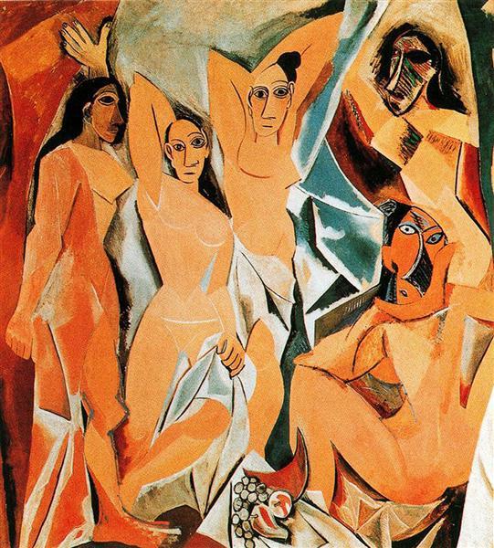 Авиньонские девицы. Пикассо.