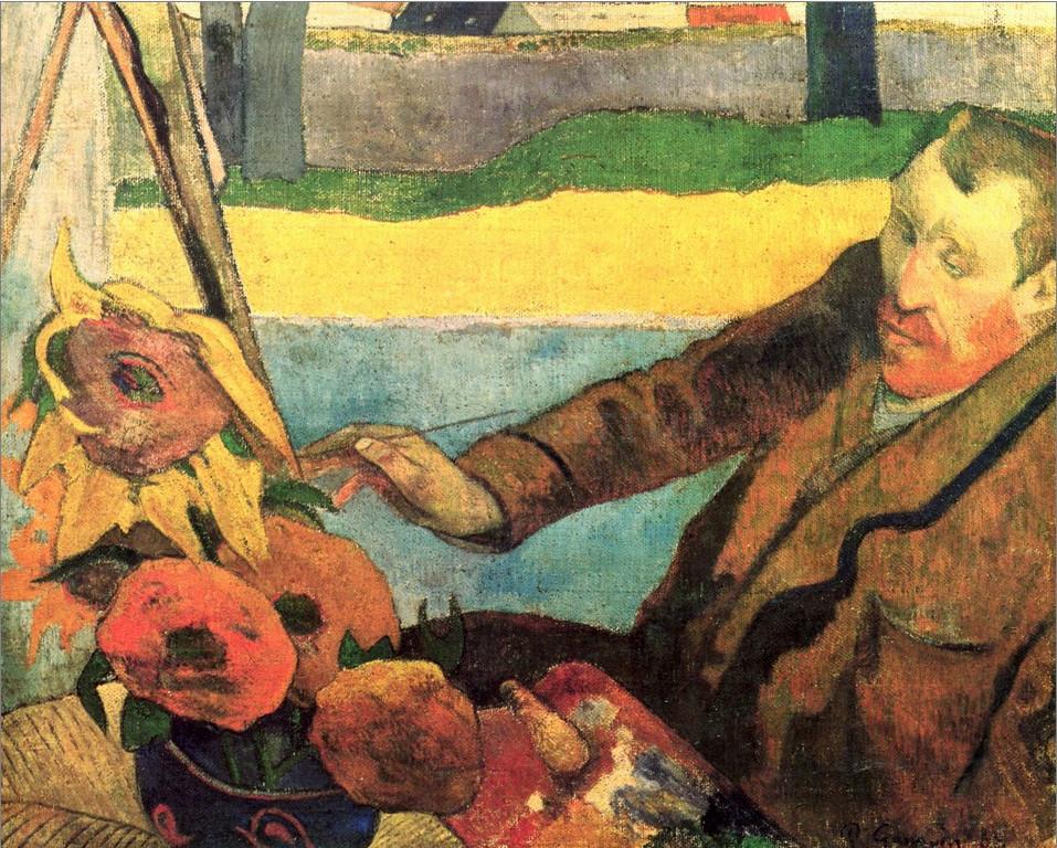 Портрет Ван Гога. Гоген.