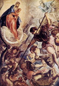 Битва архангела Михаила с Сатаной. Тинторетто.