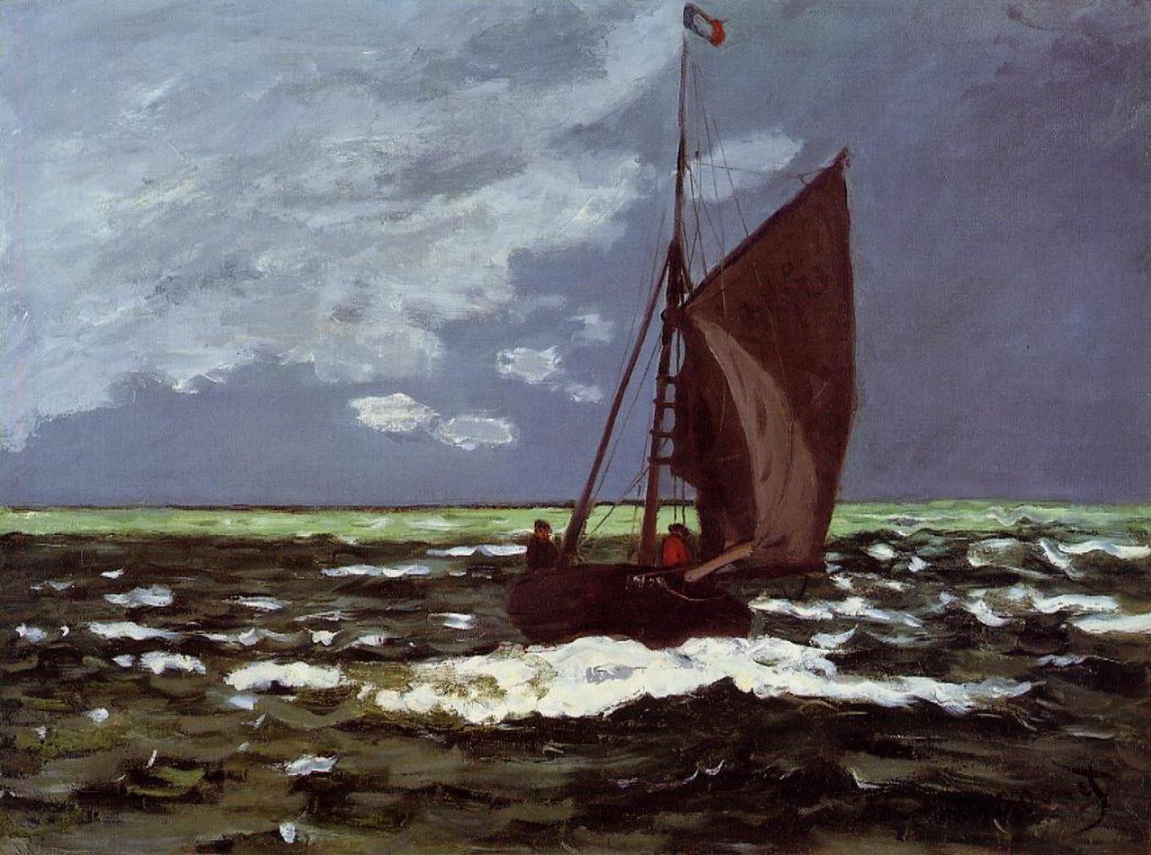 Бурный пейзаж. Клод Моне