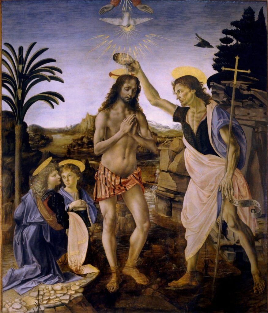 Крещение Христа. да Винчи, Верроккьо.