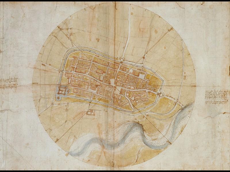 Карта города Имола (около 1502).