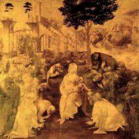 Поклонение волхвов. Леонардо. Около 1480 года.