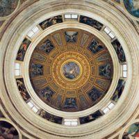 Потолок капеллы Киджи. По рисункам Рафаэля.
