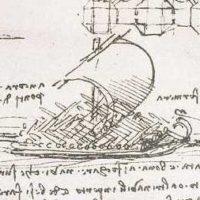 Рисунок корабля. Леонардо.