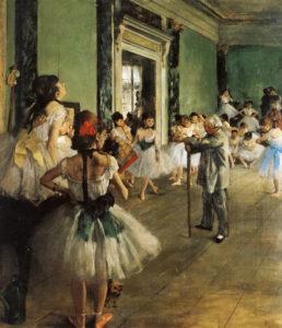 Танцевальный класс. Дега.