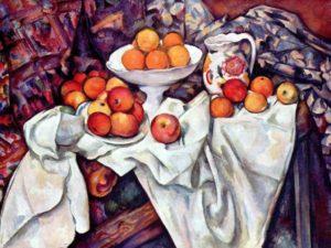 Натюрморт с яблоками и апельсинами. Сезанн