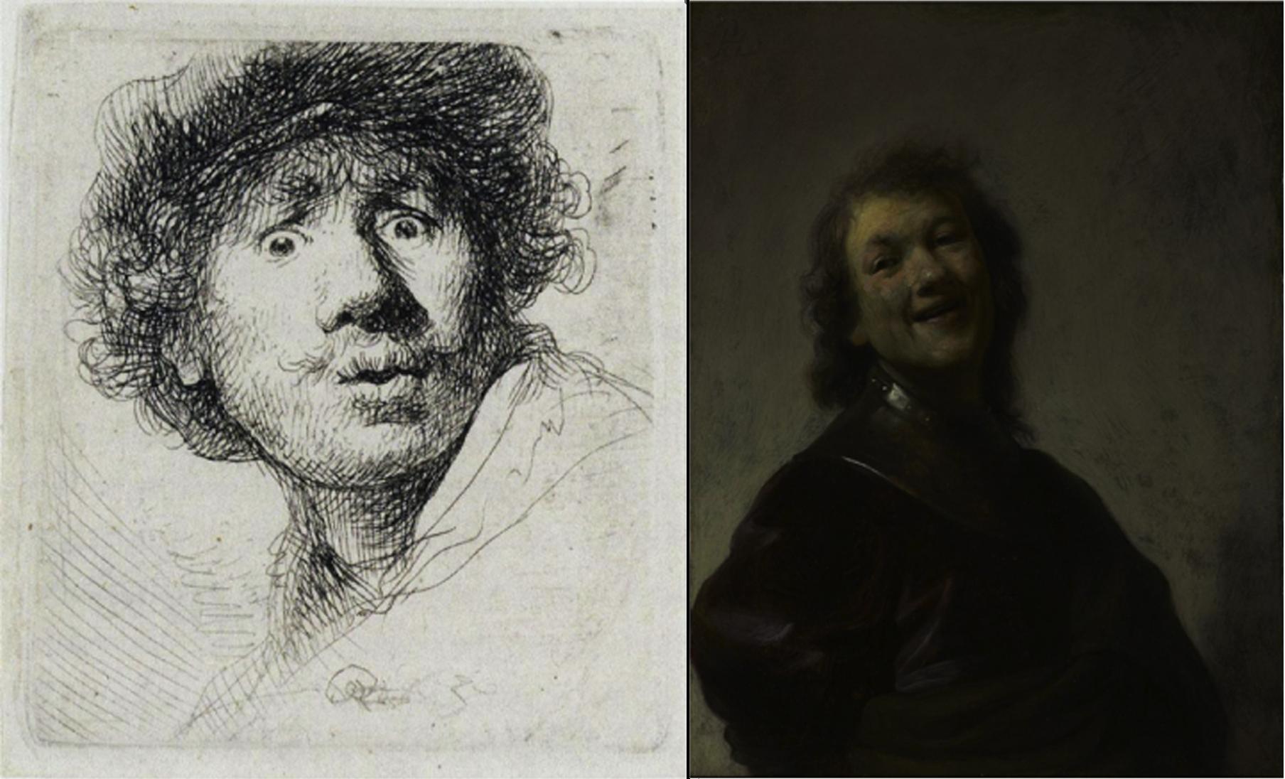 Примеры мелкой гравюры и картины. Рембрандт.
