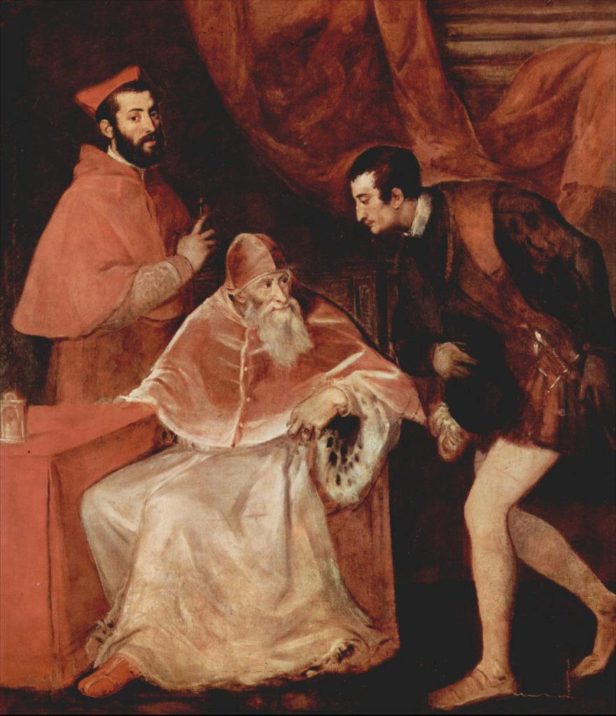 Папа Павел III и его внуки. Тициан.