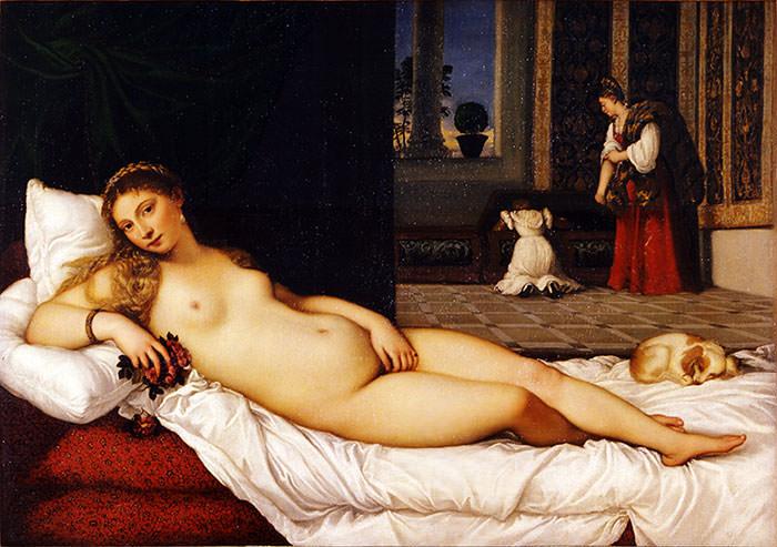 Венера Урбино. Тициан.