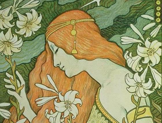 "Плакат для журнала ""L'Ermitage"". Фрагмент."