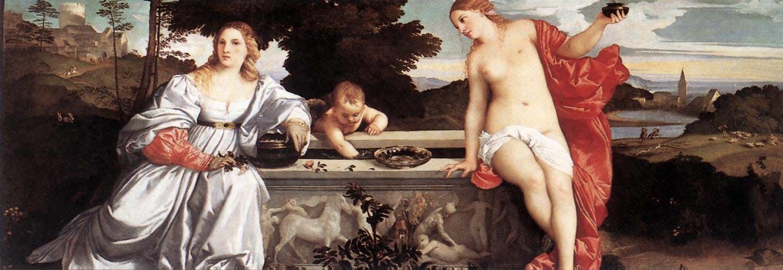 Любовь небесная и Любовь земная. Тициан.