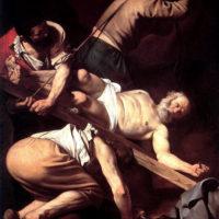 Распятие Святого Петра. Караваджо.