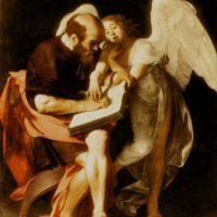 Святой Матфей. Караваджо. 1602.