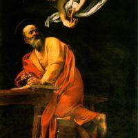 Святой Матфей. Караваджо. Поздняя версия.