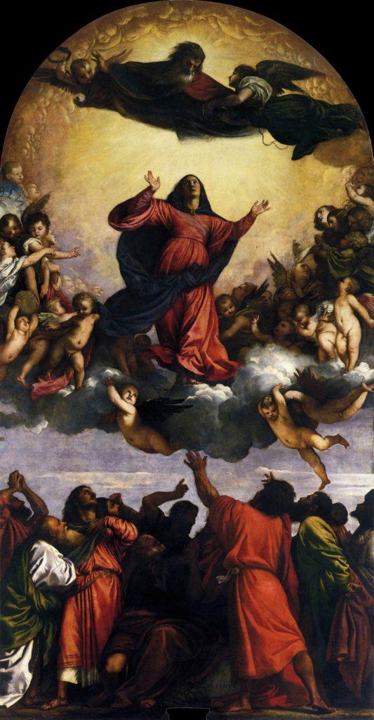 Вознесение Девы Марии. Тициан.
