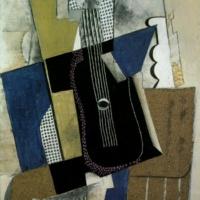 Гитара и газета. Пикассо.