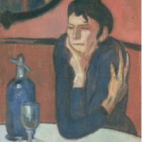 Любительница абсента. Пикассо.
