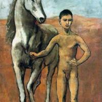 Мальчик, ведущий лошадь. Пикассо.