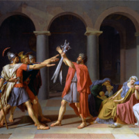 Присяга Горации. Жак-Луи Давид.