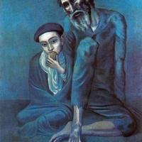 Старый еврей и мальчик. Пикассо.