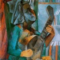 Женщина с мандолиной. Пикассо