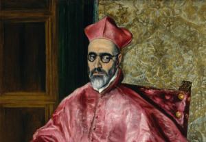 Портрета кардинала. Фрагмент.