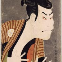 Актёр театра кабуки Отани Онидзи в роли Якко Эдобэя. Тосюсай Сяраку