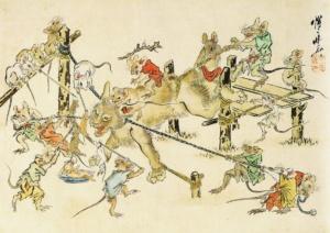 Мыши против кота. Каванабэ Кёсай.