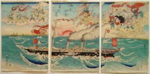 Морская гравюра. Каванабэ Кёсай.