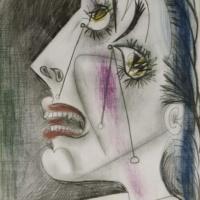 "Из серии ""плачущая женщина"". Пикассо."